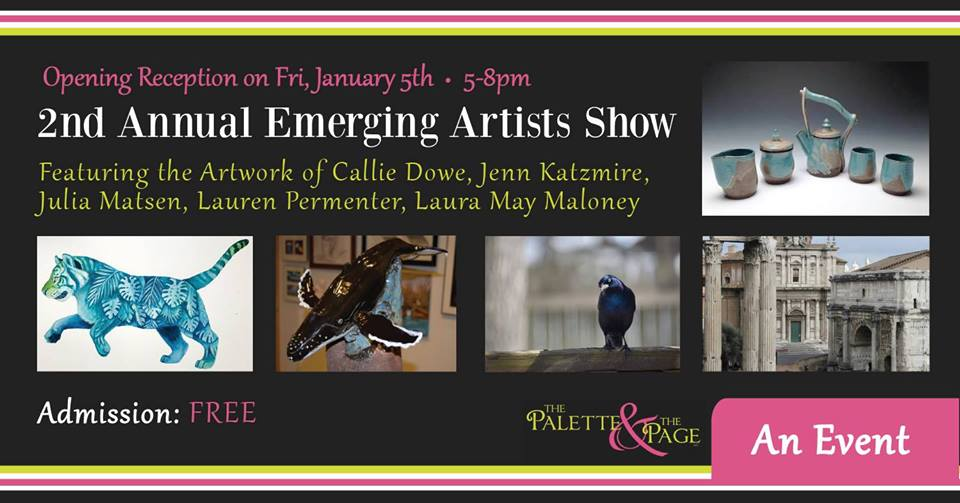 January 2018 First Friday - The Palette & The Page - Elkton, MD