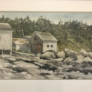 Fishing Shacks by Geraldine McKeown - Showcase on Main - The Palette & The Page