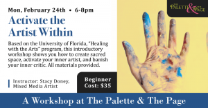 Workshop: Activate the Artist Within - The Palette & The Page - Elkton, MD
