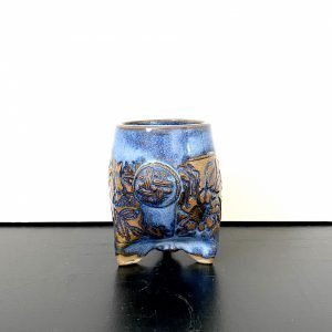 blue tri-footed flora cup - kavalerov